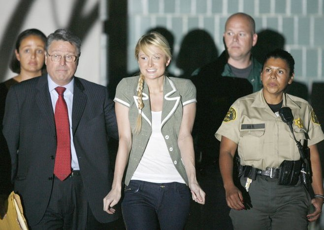 paris hilton released from prison
