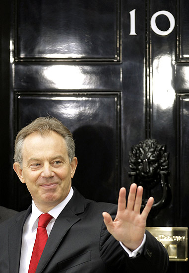 Tony Blair leaves Downing Street