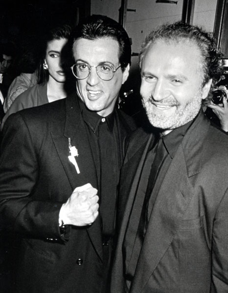 gianni versace sylvester stallone