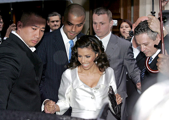 eva longoria tony parker pre-wedding