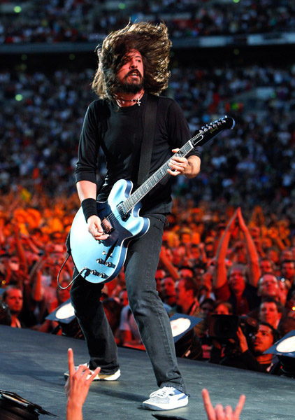 dave grohl foo fighters live earth