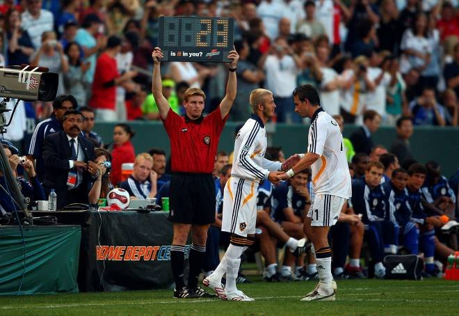 la galaxy against chelsea david beckham