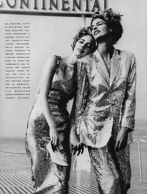 christy turlington linda evangelista vogue may 1990