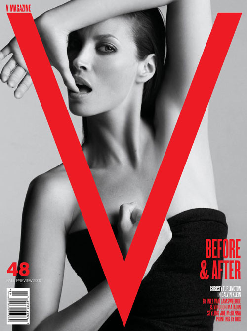 christy turlington v magazine cover