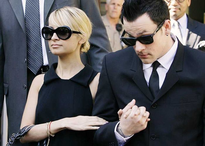 nicole richie sentenced to four days in jail + joel madden