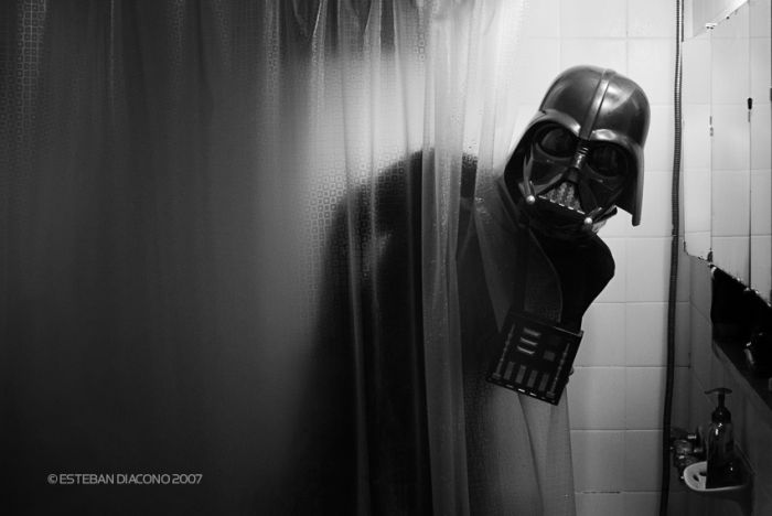 darth vader shower