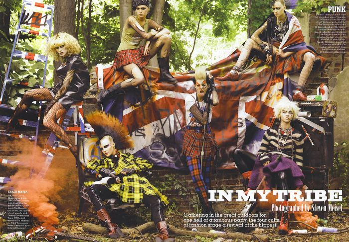 in my tribe punk fashion rocks steven meisel