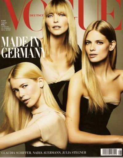 vogue germany claudia schiffer nadja auermann julia stegner