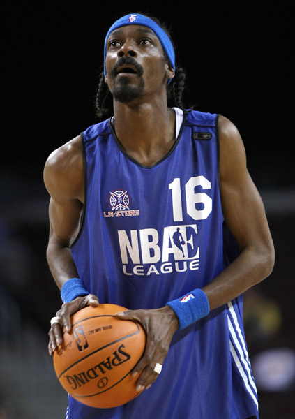 snoop dogg celebrity and nba all-star basketball los angeles