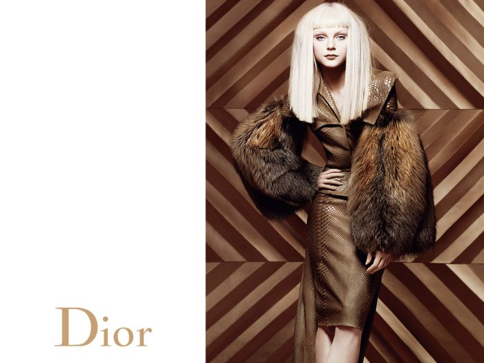 jessica stam christian dior advertising campaign