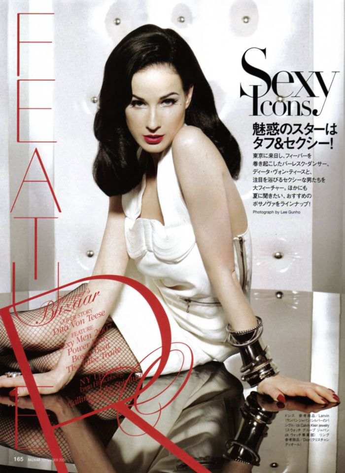 harper's bazaar japan september 2007 dita von teese