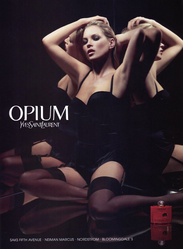 ysl opium kate moss yves saint laurent fashion ad