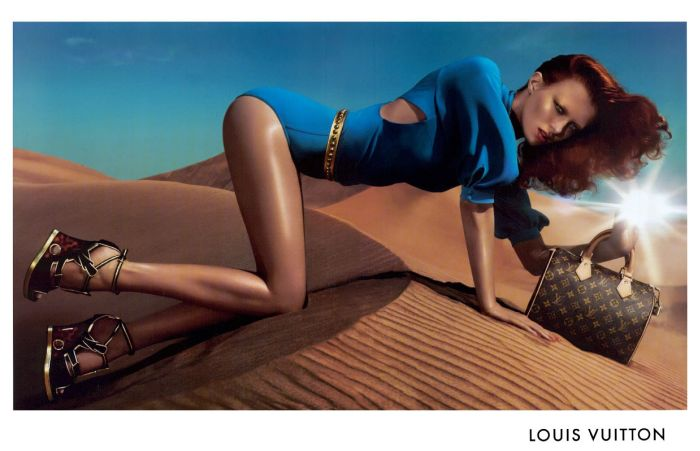 louis vuitton karen elson fashion ad