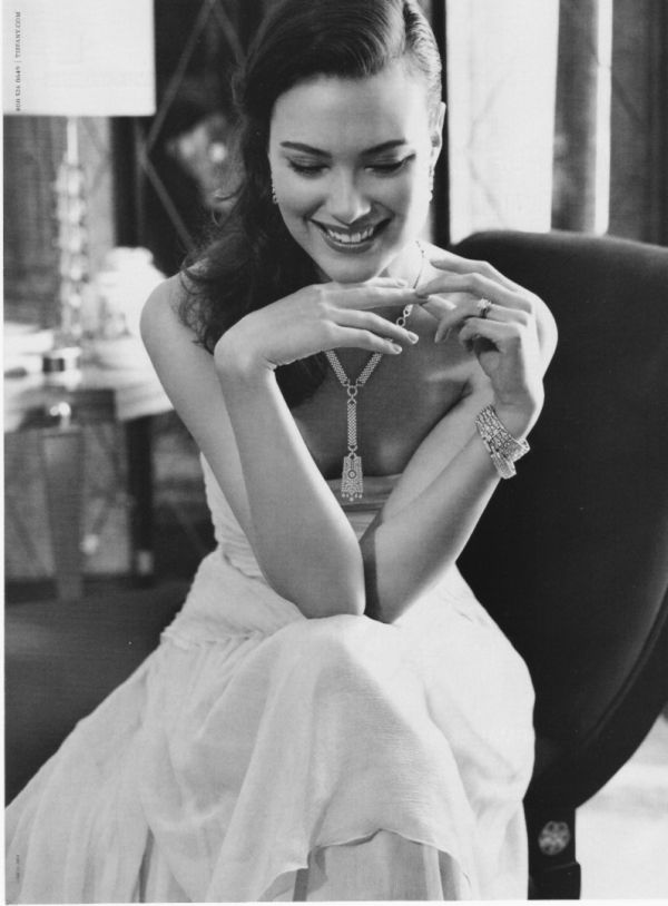 shalom harlow tiffany&co fashion ad