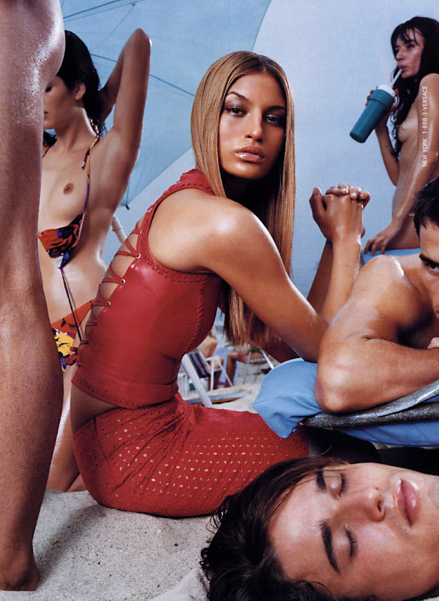 sharon ganish versace beautiful fashion ad