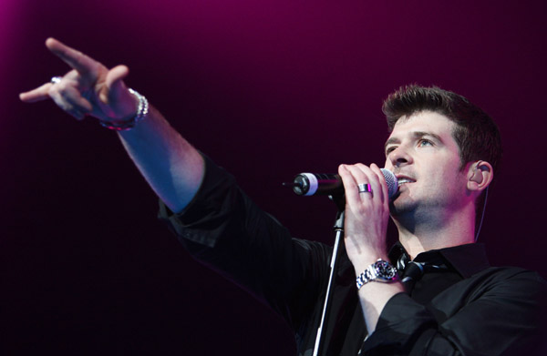 robin thicke the beyonce expereience tour
