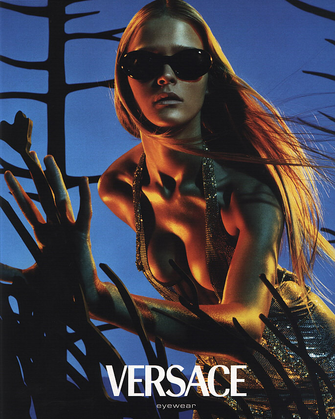 carmen kass versace fashion advertising
