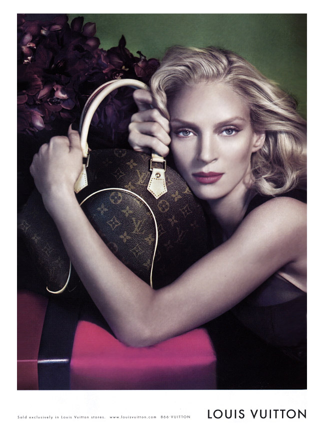 louis vuitton uma thurman fashion ad ума турман