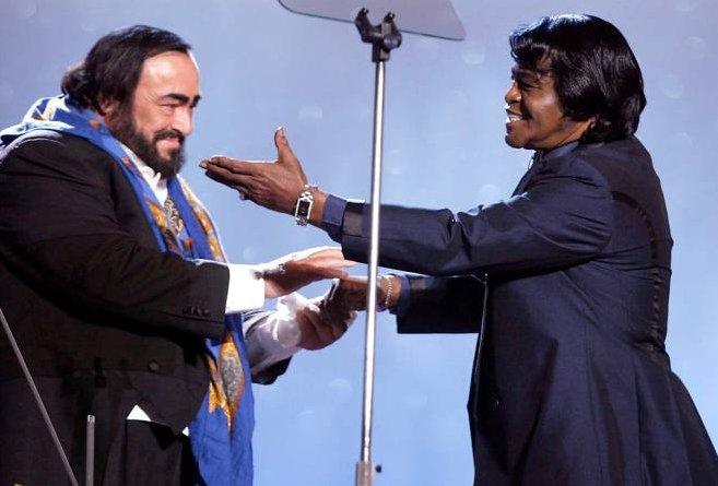 lucciano pavarotti and james brown