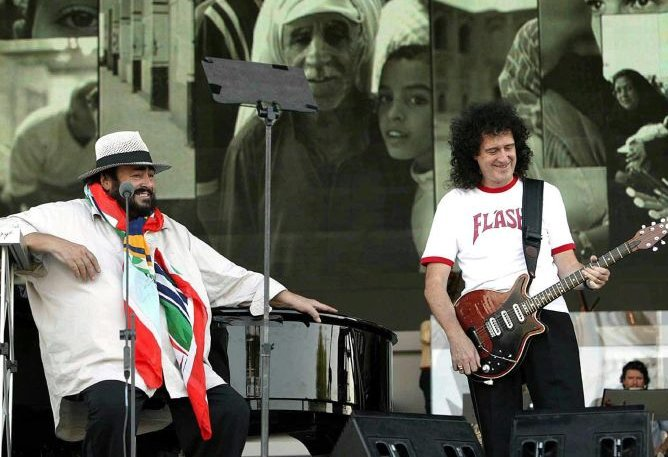 luciano pavarotti and brian may