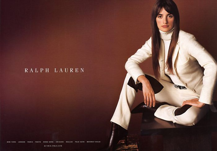 penelope cruz ralph lauren polo fashion ad