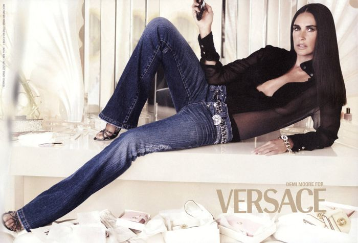 demi moore versace fashion ad деми мур