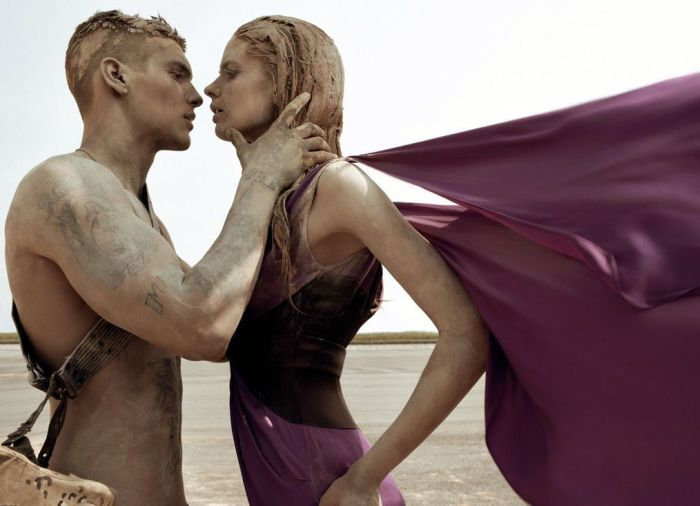 make love not war by steven meisel in vogue italia september 2007
