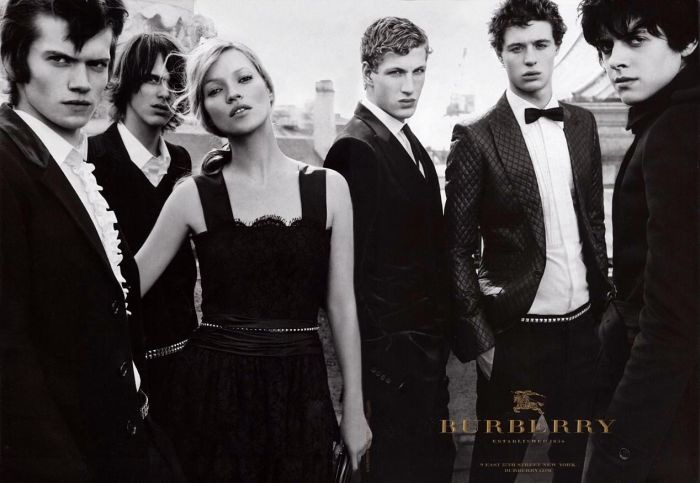 burberry kate moss fashion ad