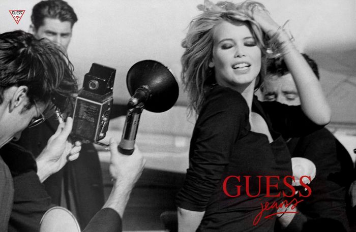 guess claudia schiffer fashion ad