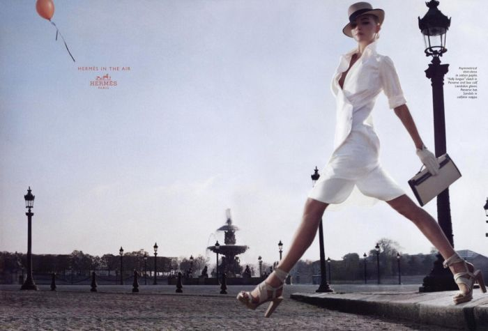 hermes gemma ward fashion ad