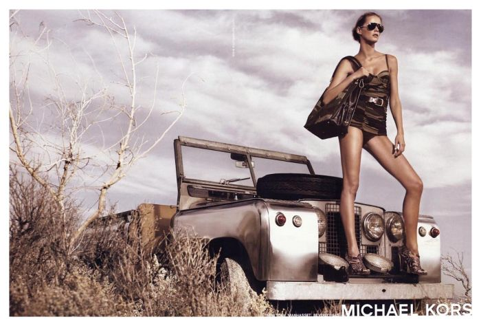 michael kors carmen kass fashion ad