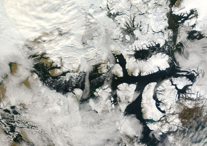 northwest passage nasa satellite image