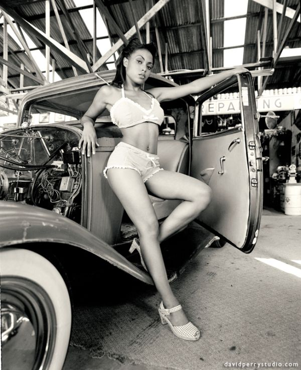 sexy girls and beautiful automobiles