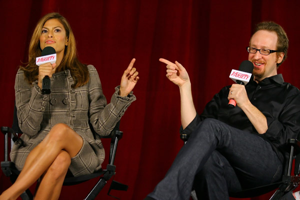 ева мендес и лжеймс грей eva mendes and james gray at screening of the movie We Own the Night