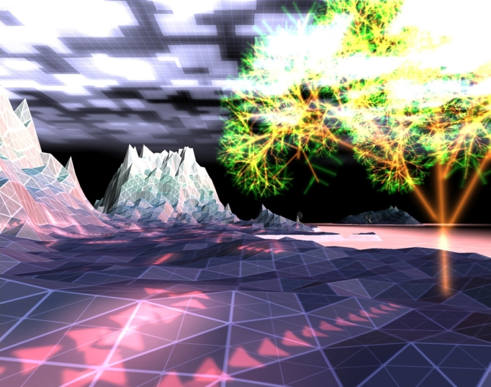 View Over the Pixel Ocean Darwinia