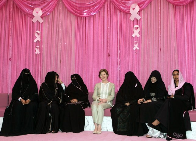 laura bush and breast cancer survivors in uae