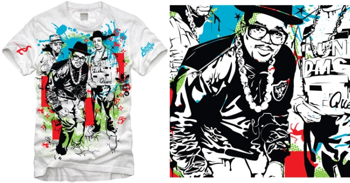 RUN DMC Digital Abstracts South Lounge Apparel
