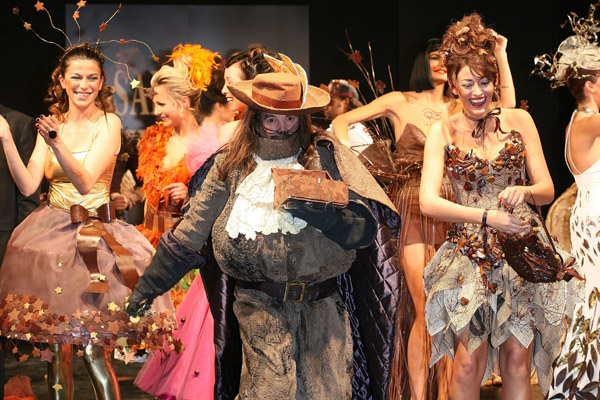 Chocolate dress fashion show celebrates the opening of the 13th Salon du Chocolat and the 26th Voix de l'Enfant association anniversary