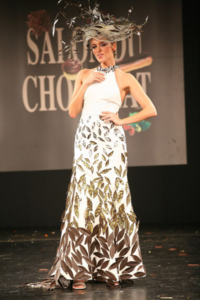 chocolate paris fashion show featuring model anita jakobson