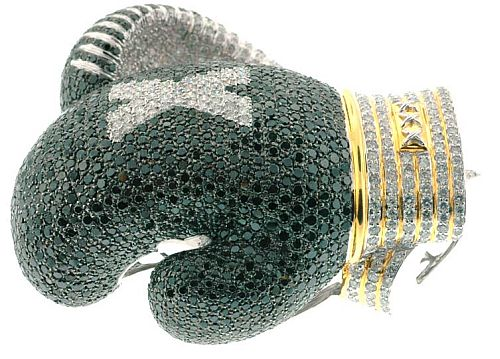 Diamond-encrusted Boxing gloves