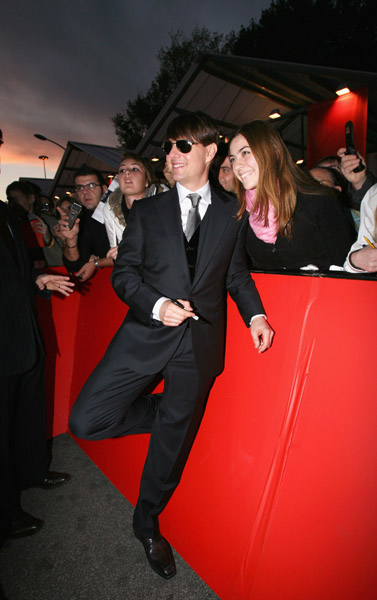 tom cruise attends premiere of lion for lambs at rome film festival