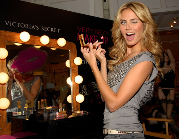 heidi klum victoria's secret very sexy make up collection