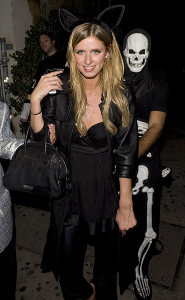 nicky hilton and david katzenberg - los angeles halloween party