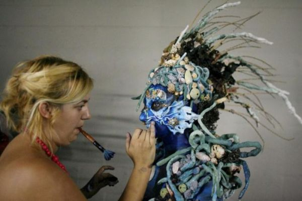 make-up and costume design students