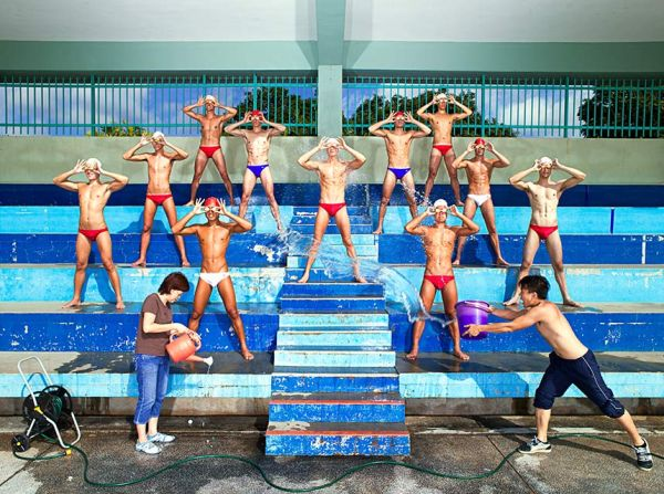 swimming team - singapore idols