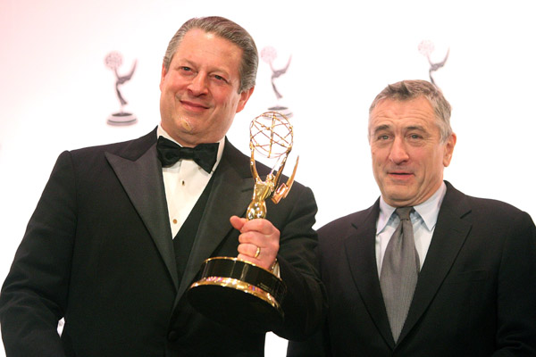 al gore and robert de niro - эл гор и роберт де ниро - international emmy awards