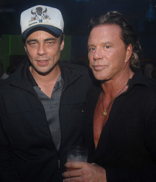 бенисио дель торо и микки рурк benicio del toro and mickey rourke