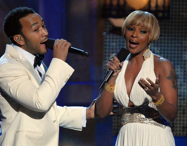 джон ледженд и мэри джей блайдж - john legend & mary j blige at movies rock perform as time goes by