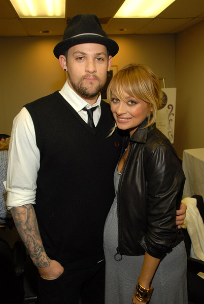 pregnant nicole richie and joel madden children's foundation