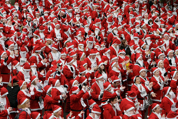 Santa record attempt in Derry